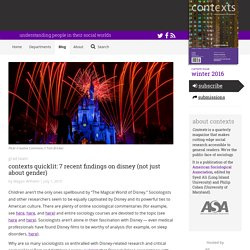 Contexts Quicklit: 7 Recent Findings on Disney (not just about gender) - Contexts