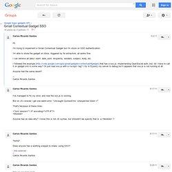 Gmail Contextual Gadget SSO - Google Apps gadgets API