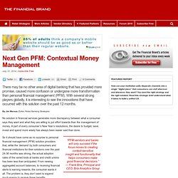 Next Gen PFM: A Great Contextual Mobile Banking Offer