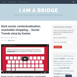 Dark social, contextualisation, snackable shopping… Social Trends 2015 by Kantar