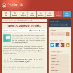 Créer un menu contextuel avec HTML5 - JavaScript / jQuery