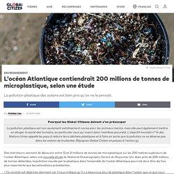 L'océan Atlantique contiendrait 200 millions de tonnes de microplastique, selon une étude