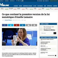 Ce que contient la première version de la loi numérique d'Axelle Lemaire