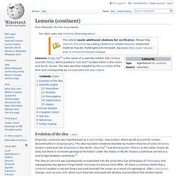 Lemuria (continent)