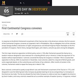 First Continental Congress convenes - Sep 05, 1774