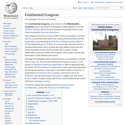 Continental Congress - Wikipedia