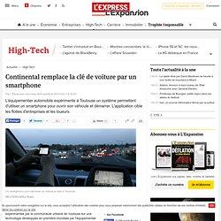 Continental remplace la clé de voiture par un smartphone