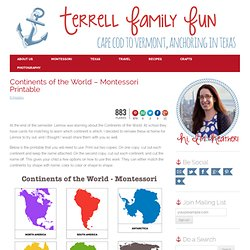 Continents of the World – Montessori Printable