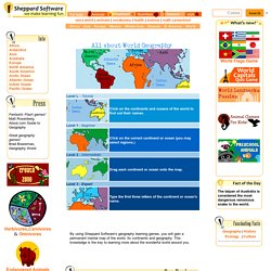 World Continents Quizzes - geography online games