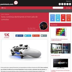 Sony continúa dominando el mercado de consolas