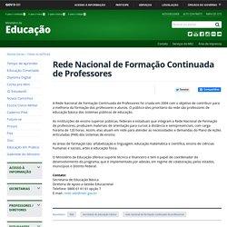 Rede Nacional de Formação Continuada de Professores
