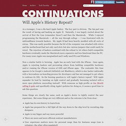 Will Apple's History Repeat? - Continuations