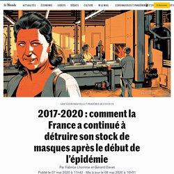 2017-2020: comment la France a continué à détruire son stock de masques après le début de l'épidémie