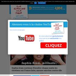 Sophia Aram continue d'insulter chaque matin les chrétiens sur France Inter, aucune sanction contre elle