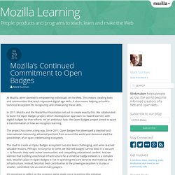 Mozilla's Continued Commitment to Open Badges