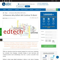Continued Boom In Education Technology Or EdTech
