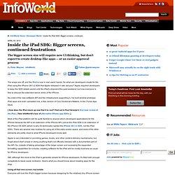 Inside the iPad SDK: Bigger screens, continued frustrations