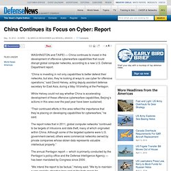 China Continues its Focus on Cyber: Report