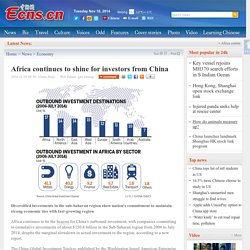 Africa continues to shine for investors from China
