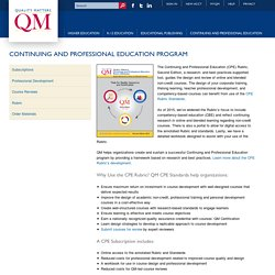 Continuing and Professional Education Program