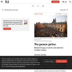 The continuing crisis inside the Swedish Academy