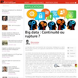 Big data : Continuité ou rupture