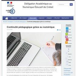 Dane de Créteil - Continuité pédagogique grâce au numérique
