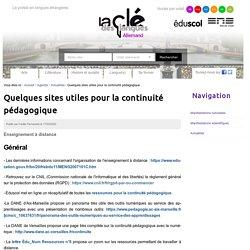 Quelques sites utiles pour la continuité pédagogique — Clé des langues