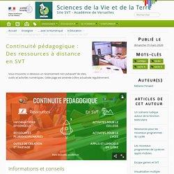 Continuité pédagogique : Des ressources à distance en SVT