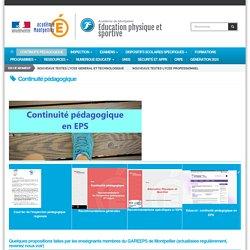 Académie de Montpellier : continuité pédagogique en EPS