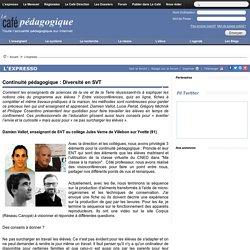 mars Continuité pédagogique : Diversité en SVT