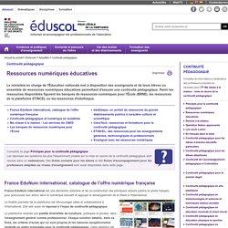Continuité pédagogique - Ressources numériques éducatives
