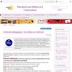 Opération nation apprenante_Continuité pédagogique : les médias se mobilisent_Site EMI Académie de Paris