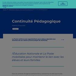 Continuité Pédagogique : l'Éducation Nationale et La Poste mobilisées pour maintenir le lien avec les élèves et leurs familles