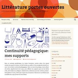 CM1 : supports de continuite pedagogique
