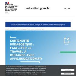 Continuité pédagogique : faciliter le travail à distance avec Apps.education.fr