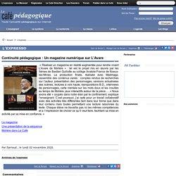déc Continuité pédagogique : Un magazine numérique sur L'Avare