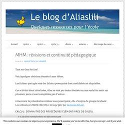 MHM : révisions et continuité pédagogique