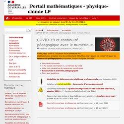 COVID-19 et continuité pédagogique avec le numérique