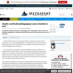 Continuité pédagogique - article médiapart