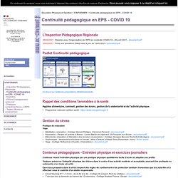 Continuité pédagogique en EPS - COVID 19
