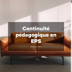 Continuité pédagogique en EPS
