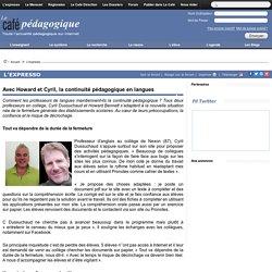 Avec Howard et Cyril, la continuité pédagogique en langues