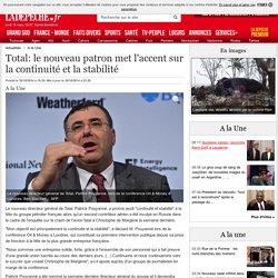 Total: le nouveau patron met l'accent sur la continuité et la stabilité - 30/10/2014