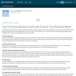Tips To Choose Business Continuity Tools for Your Business Model: coreconsultinga