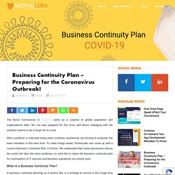 Business Continuity Plan - Preparing for the Coronavirus Outbreak!