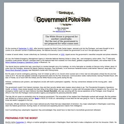 Continuity of Government Police State - The Day After