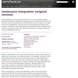 Continuous Integration (original version)