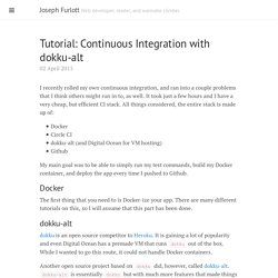 Tutorial: Continuous Integration with dokku-alt