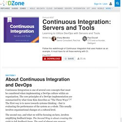 Continuous Integration: Servers and Tools - DZone - Refcardz